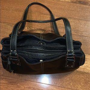 Black leather Fossil handbag shoulder purse bag